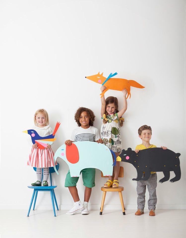 детское творчество в центре детского развития bubu 3d моделирование папье-маше фигуры животных
