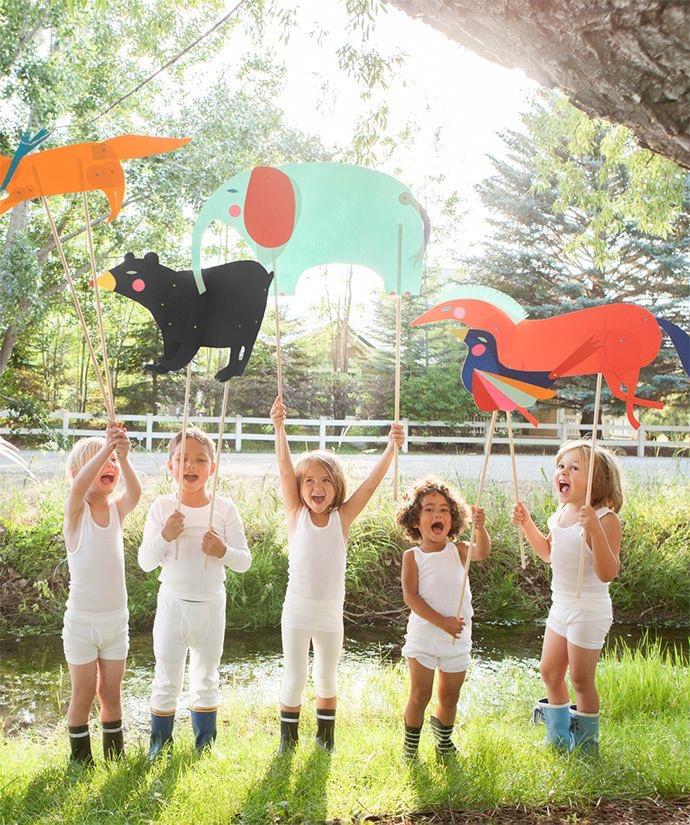 3д моделирование в центре детского развития bubu в севастополе дети с бумажными фигурами животных